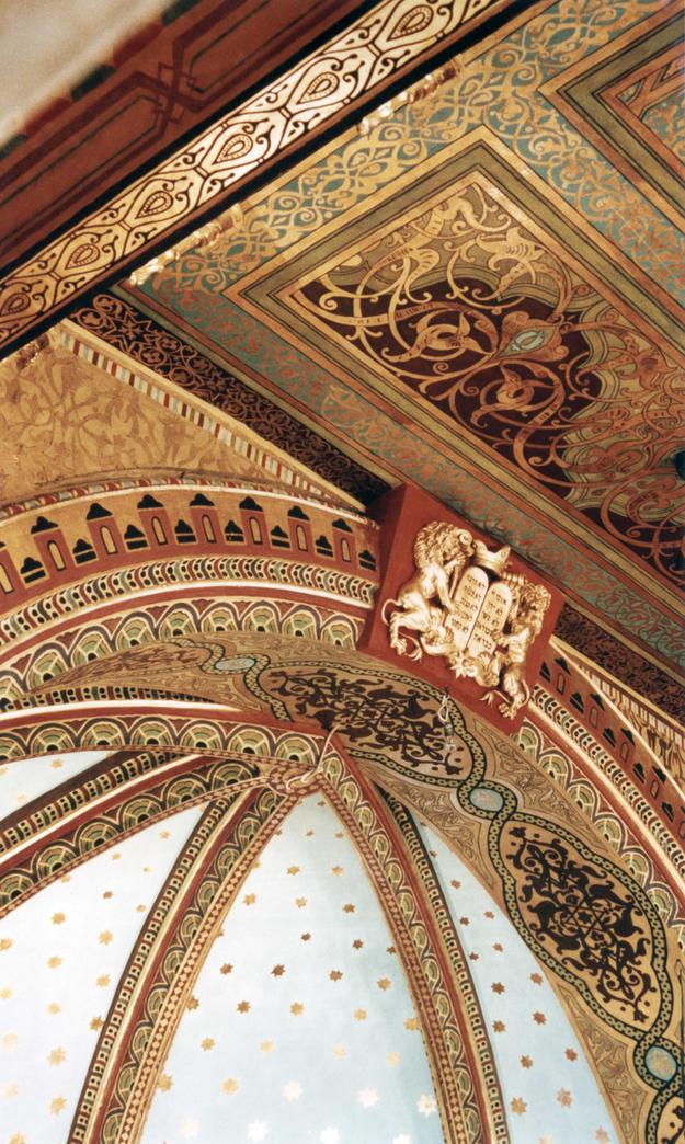 Keystone after conservation, 2000