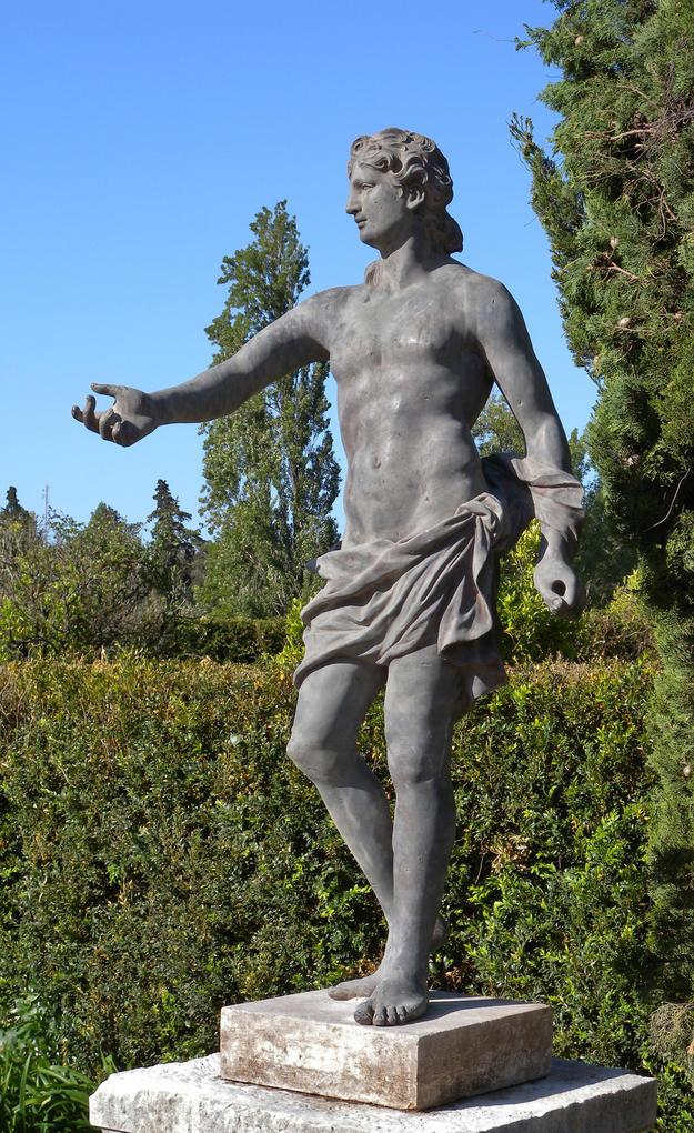 Adonis statue in the garden, 2009
