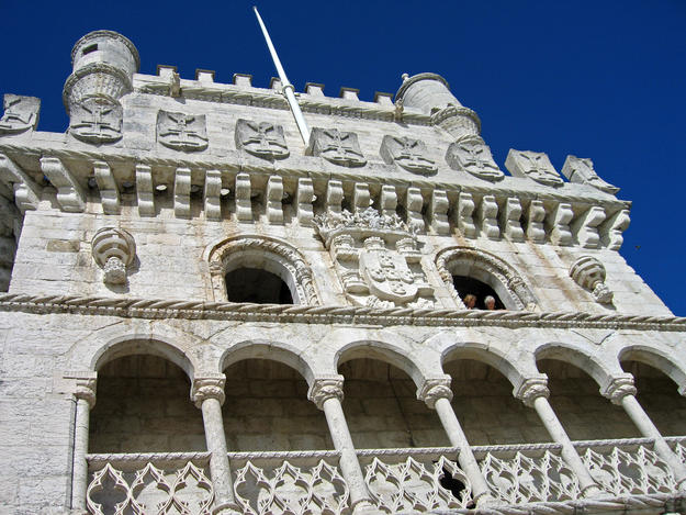 Upper three stories after conservation, 2006