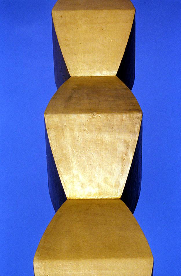 A brass-clad, cast-iron module after conservation, 2001