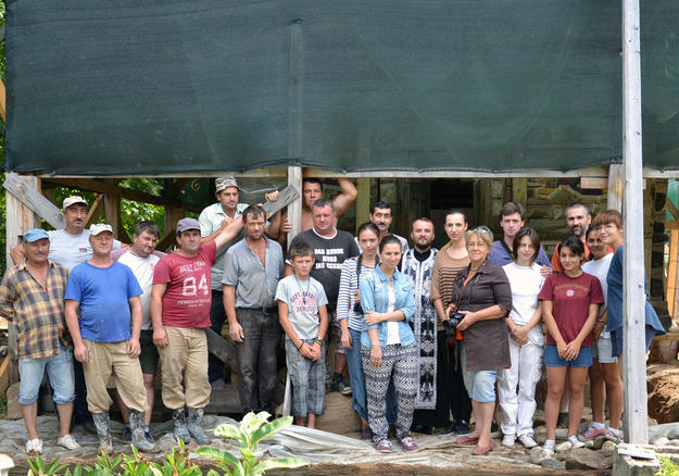 Our conservation team of architects, restorers, craftsmen, and volunteers, 2013