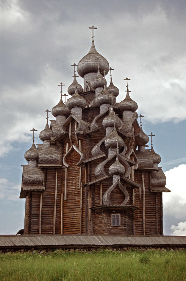 The church, built of wood only with no nails, 1995