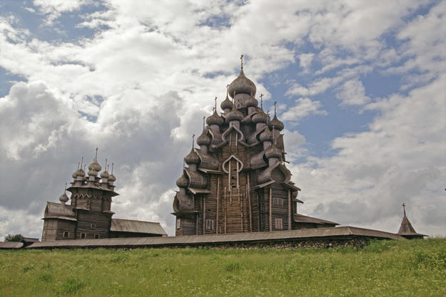 The Church of the Transfiguration and the smaller Church of the Intercession, 1995