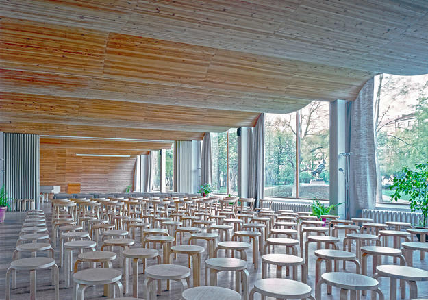 Interior of lecture hall ceiling, 2014 (Photo: The Finnish Committee/Petri Neuvonen)