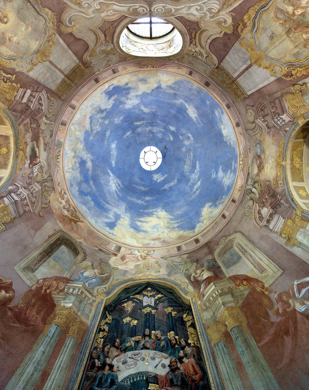 The cupola vault of the Lower Church, Chapel 5 after conservation, 2013