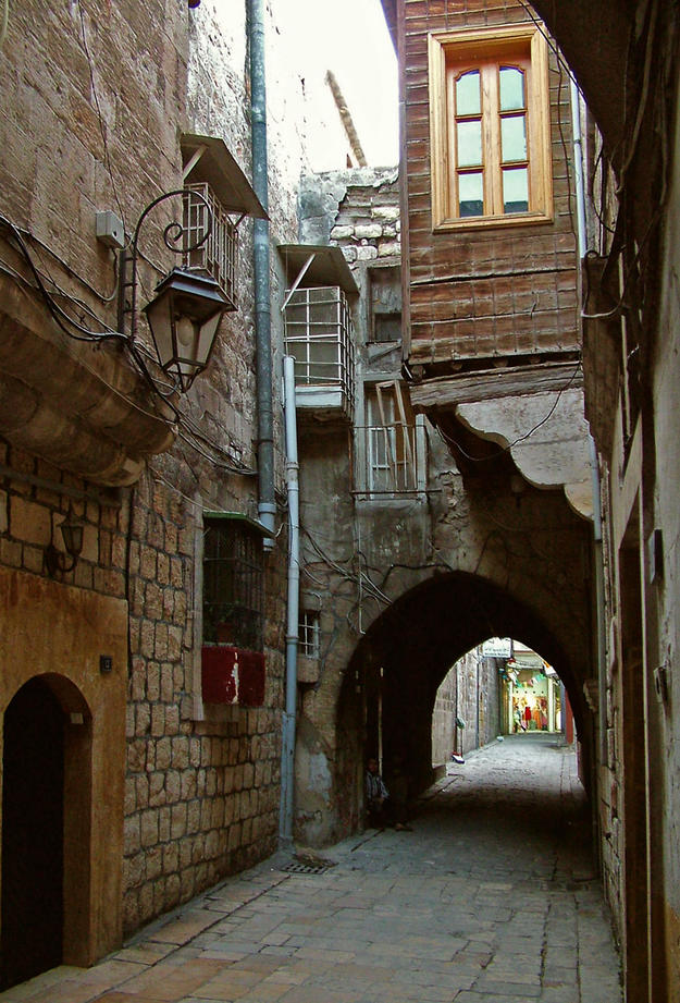 Street in the old city, 2006