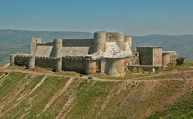 Crac des Chevaliers from the southwest, 2004