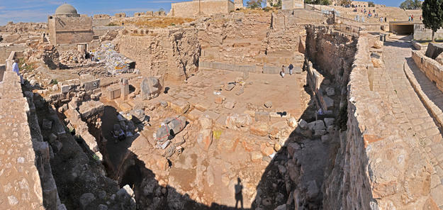 Panorama of the temple looking north, 2010