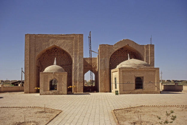 Ashkab complex of mausolea and iwans from south, 2004