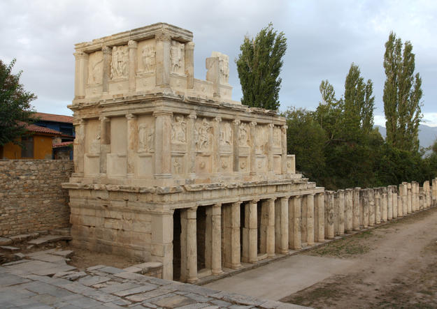The Sebasteion, a temple complex dedicated to Aphrodite and the Julio-Claudian emperors, 2010