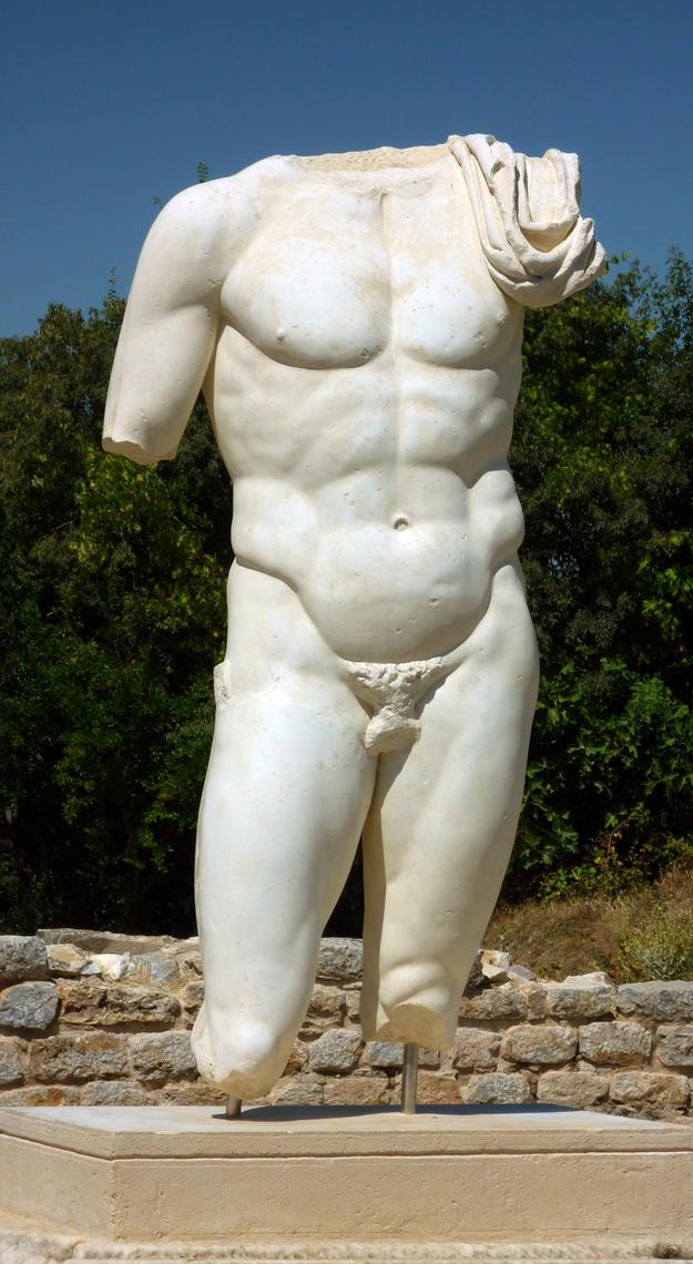 Sculptural detail at the Hadrianic Baths, 2011