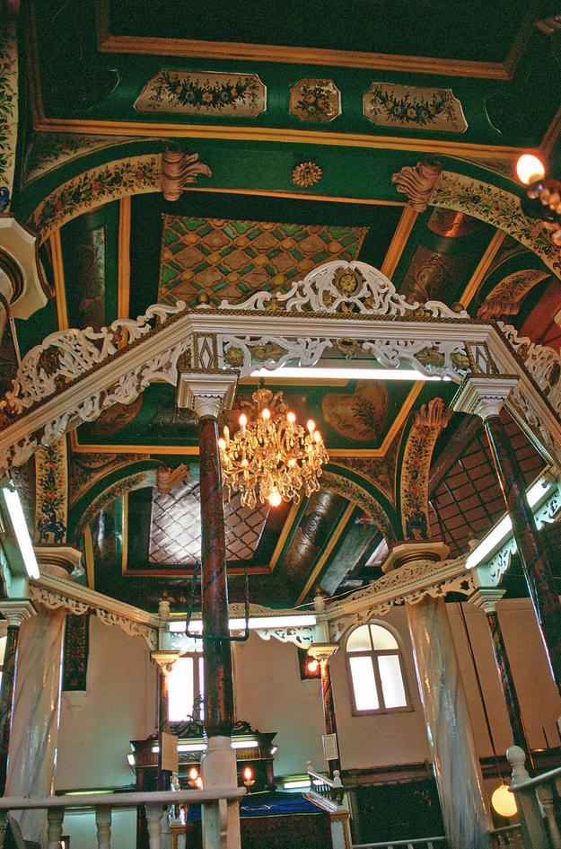 Detail of the bima of the Bikkur Holim Synagogue, 2003