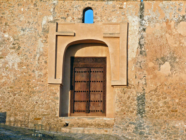 Doorway of the Portuguese fort after conservation, 2014