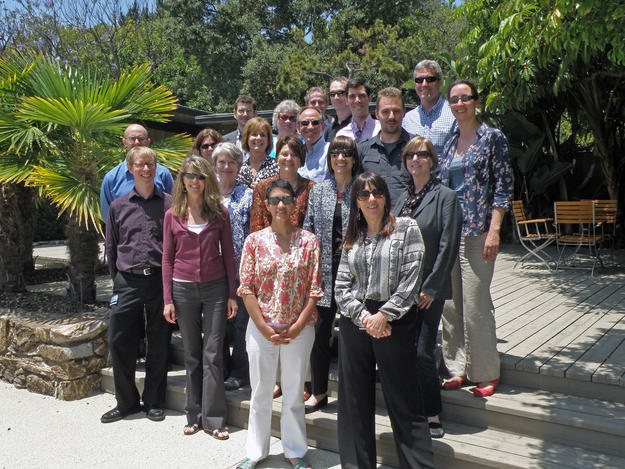 Participants of a working session at the Getty Center , 2012