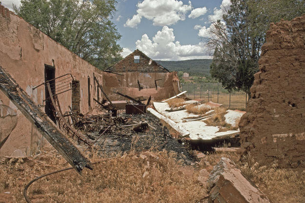 Ruins of the Enlisted Men's Barracks, 1997