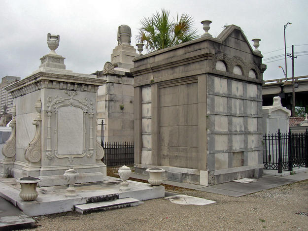 Marble and stucco tombs at St. Louis Cemetery No. 2, 2009