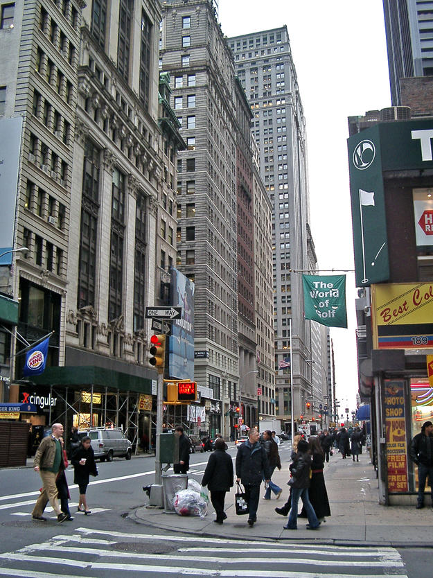 The historic district with some of the world's earliest skyscrapers, 2002