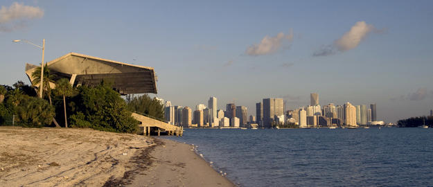 Looking west towards the stadium and the city of Miami, 2009