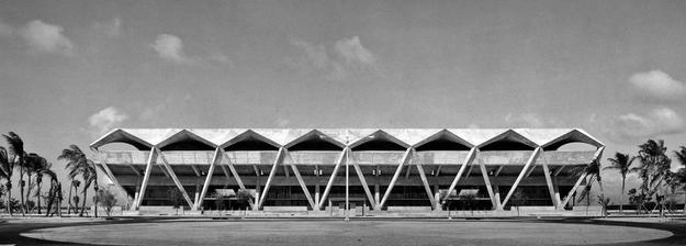 South elevation of the grandstand, 1964