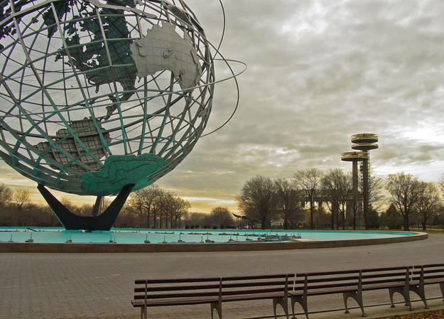 View of the pavilion with the Unisphere in the foreground, 2006