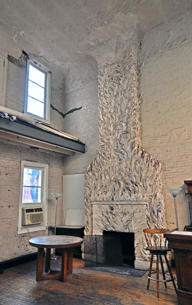 Fireplace with sculpted flames, 2012