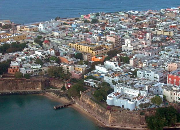 Aerial view of San Juan, 2002
