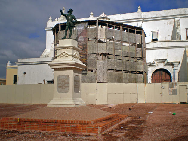 A statue in the square adjacent to the church, 2010