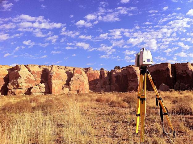 CyArk scanning the mesa at Dawa Park, 2010
