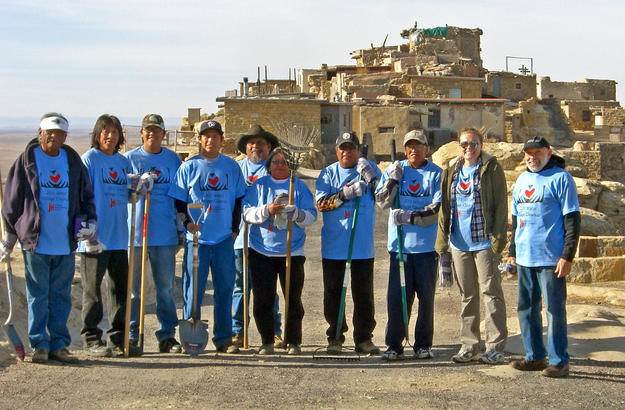 Members of the community participate in a cleanup project, 2011