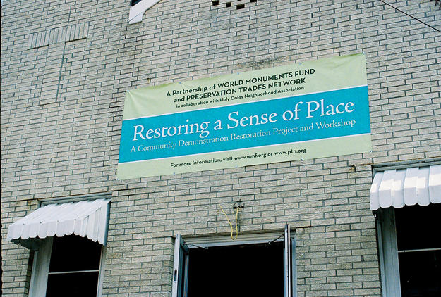 The conservation project banner, 2006