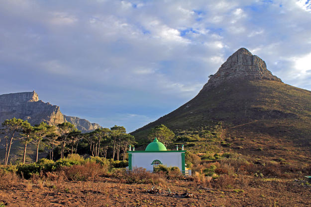 A shrine on the crest of Signal Hill, above Bo-Kaap, one of a circle of tombs of Muslim holy men, 2015