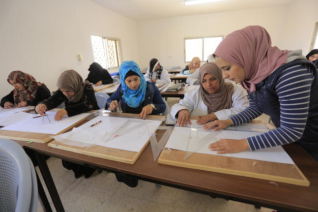 Students in the classroom, Mafraq, Jordan