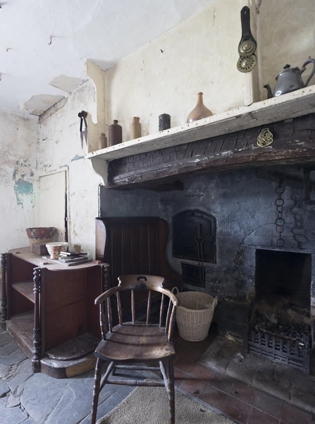 The hearth of the farmhouse kitchen.