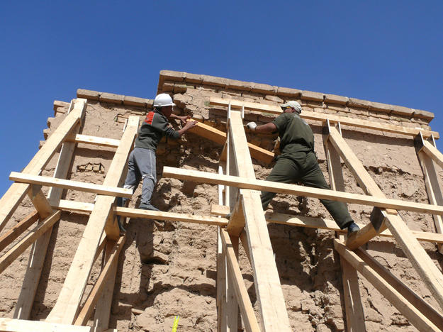 Adding shoring to the Inner City Walls, 2012
