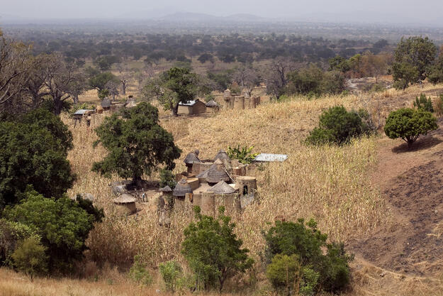 Batammariba villages are characterized by tall tower houses of earthen construction, known as Takienta, 2016. Photo credit: Damien Halleux Radermecker.