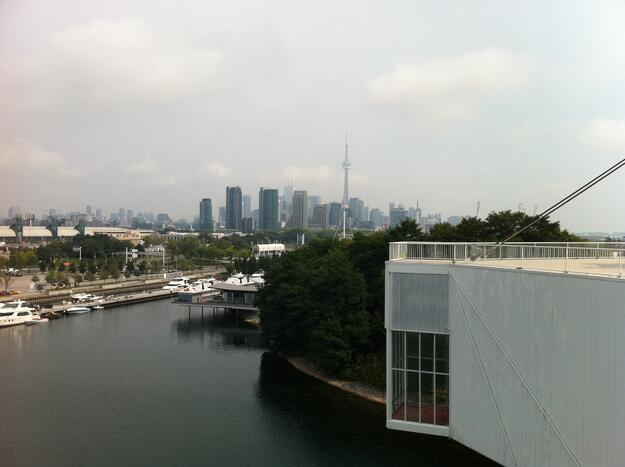View of the Toronto skyline from the top of the Pods, 2013.