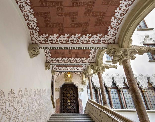 Interior of Casa Macaya (1901) by Josep Puig i Cadafalch.