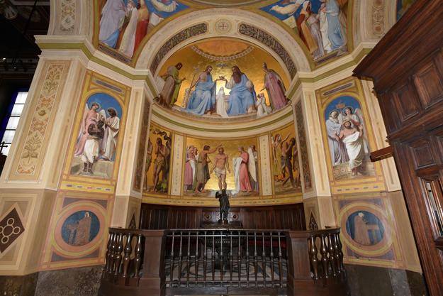 Interior of Notre-Dame-de-Lorette after restoration, 2017.