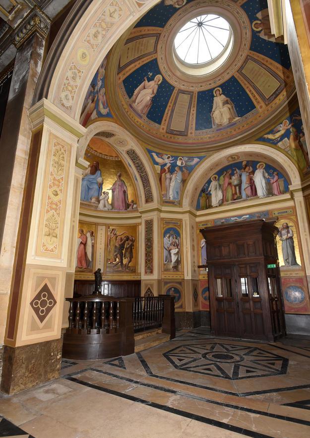Notre-Dame-de-Lorette, cupola after restoration, 2017.