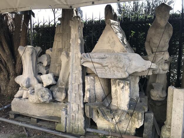 Notre-Dame stone cemetery, 2018.