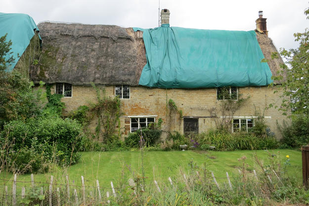 The Kiln Farm House, on the grounds of Sulgrave Manor, is in need of repairs, 2012