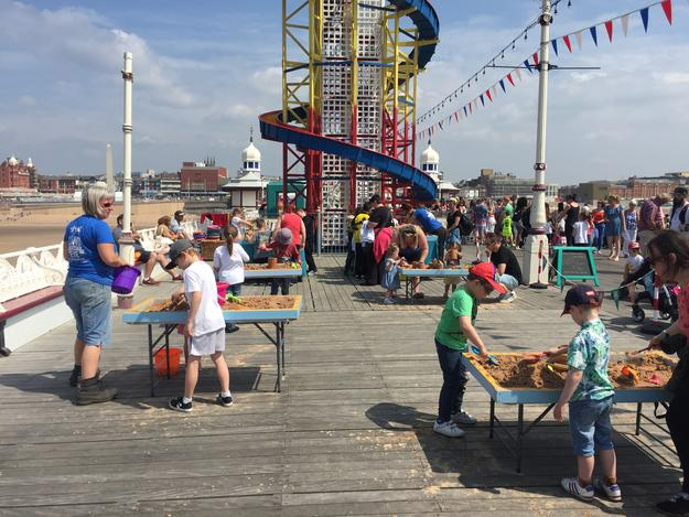 Visitors at Blackpool Piers during Watch Day celebrations, June 2018