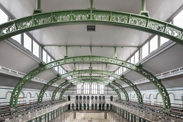 The interior of the Gala Pool following restoration, January 2020.