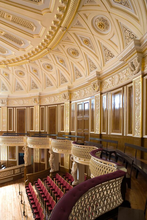 Completed small concert room, St. George's Hall, Liverpool, UK, 2006