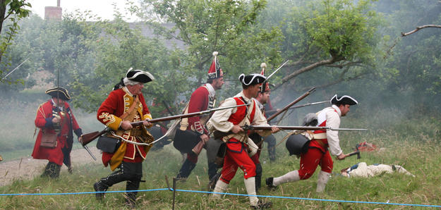 A battle reenactment takes place on Watch Day, 2014