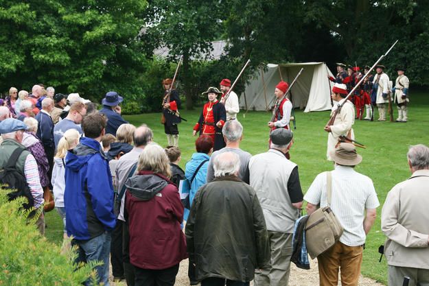 Visitors enjoy a reenactment on Watch Day, 2014