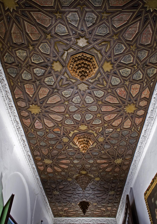 View of the coffered ceiling of the lower choir in the Convent of San José, 2012