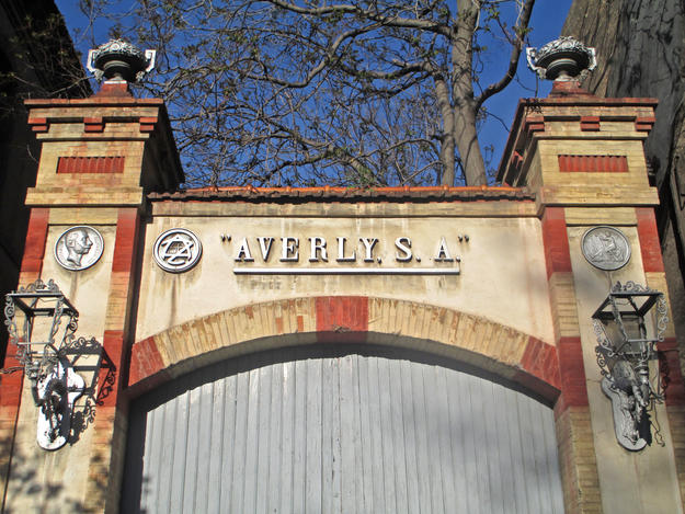 Main entrance to Averly Foundry on Paseo María Agustin in Zaragoza, 2013