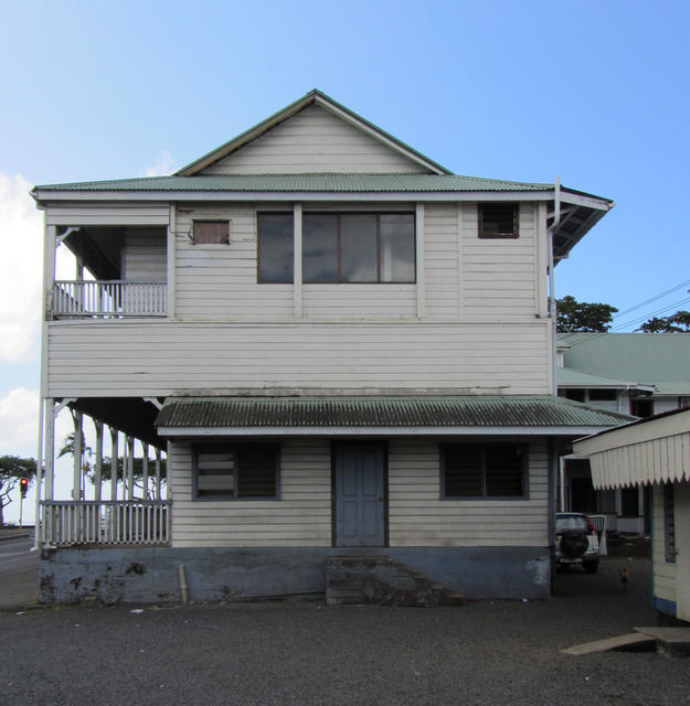 The Former Apia Courthouse is a two-story timber frame building of great architectural significance in the region, 2013