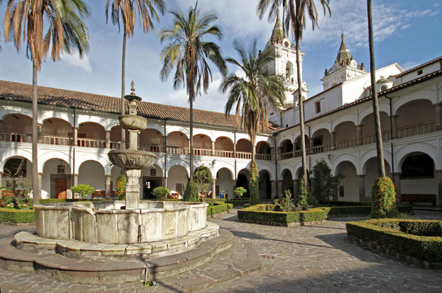 View of the patio and main cloister of the Church and Convent of San Francisco, 2014